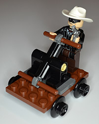 Lego The Lone Ranger Figure With Railcar