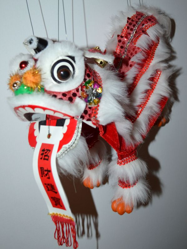 Mandala Crafts Chinese Lion Marionette
