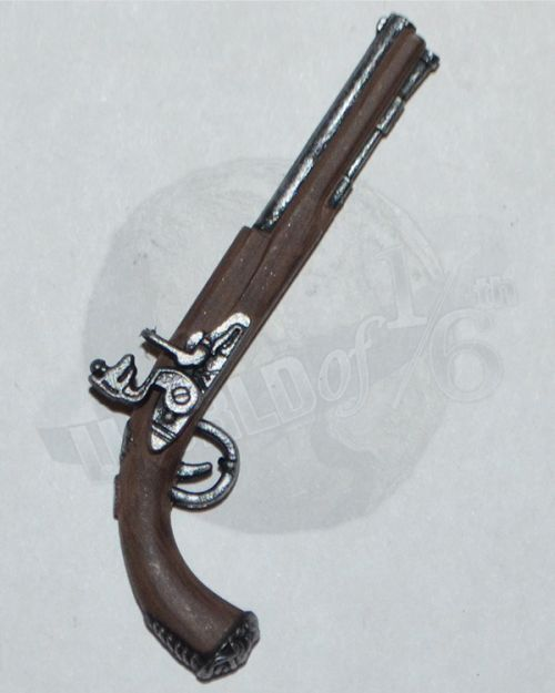 Third Party Pirates of the Carribean Jack Sparrow: Metal Flintolock Pistol (Silver, Wood)