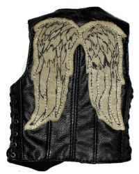 ThreeZero Toys Daryl Dixon From The Walking Dead: Leatherlike Vest With Eagle Wings On Back