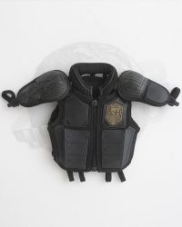Art Figures Heavy Armored Special Cop: Bulletproof Vest With Accents & Name Plate & Shoulder Pads (Black)