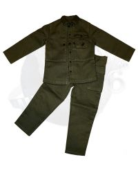 Alert Line WWII US Marine Corps Browning Automatic Rifle (BAR) Gunner: M1944 HBT Jacket & Trousers