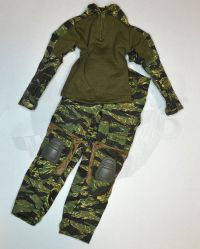 DamToys PMSC's Private Military Security Companies In Syria Contractor: BDU Combat Suit Shirt & Trousers (Tiger Striped)