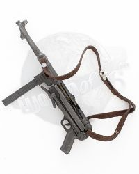 DID French Resistance Pierre: MP-40 With Leather Sling (Metal Construction With Working Action)