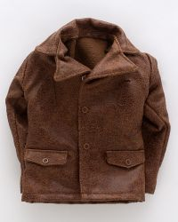 DID French Resistance Pierre: Leather Bomber Jacket (Brown)