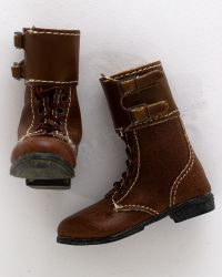 DID French Resistance Pierre: Leather M43 Buckletop Boots (Brown)