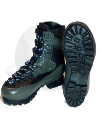 Mini Times US Navy SEAL Winter Combat Training: Combat Boots (Black & Green)