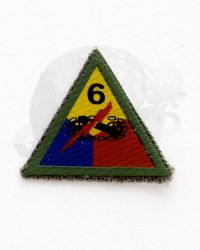 WWII US Army 6th Armored Tank Division Patch