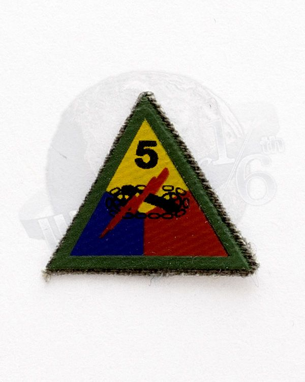 WWII US Army 5th Armored Tank Division Patch