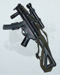 Rare & Hard To FindModern MP5 Sub Machine Gun With Fold Out Stock, Sling  & Scope (Metal)