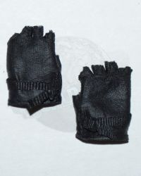 Rare & Hard To FindModern Fingerless Gloves With Nylon Wrist Closure (Black)