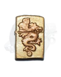 Rare & Hard To FindHot Toys - Sucker Punch Movie Masterpiece Amber: Gold Zippo Lighter With Dragon Relief