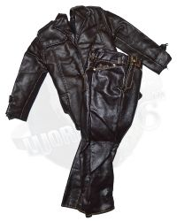 "Richard Roundtree ""Shaft"": Leather Jacket Coat & Trousers (Brown)"