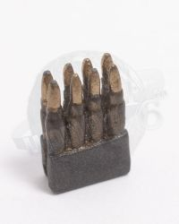 Metal M1 Garand Ammo Clip & 8 Rounds (Solid 1 Piece Construction)