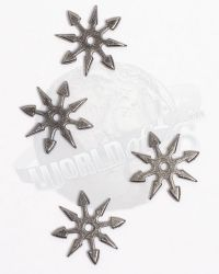 Ninja 8 Sided Throwing Stars x 4