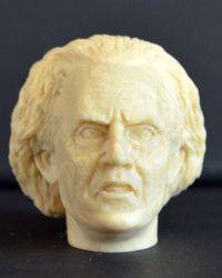 Back To The Future Dr. Emmett Brown Head Sculpt (Unpainted)