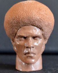 Jim Kelly Head With Neck Sculpt (Unpainted)