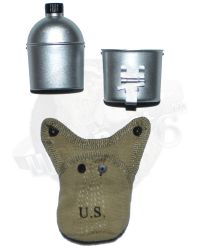 DiD WWII US 2nd Ranger Battalion Private First Class Reiben: M1910 Canteen, Cup & Cover
