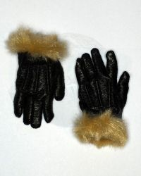 Art Figure Soldiers Of Fortune 3: Leather Gloves With Furlike Wrists (Black)
