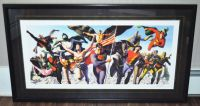 Alex Ross Justice Society Signed Print With Certificate of Authenticity