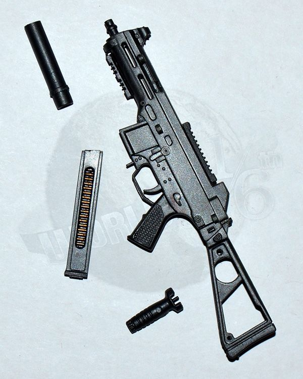 Brother Production Present Live Free Johnny: HK UMP Machine Gun With Folding Stock, Silencer & Foregrip
