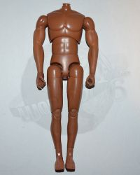 Dragon Models Ltd. Bad Boys: Figure Body With Seamless Arms (Medium Brown Complextion)
