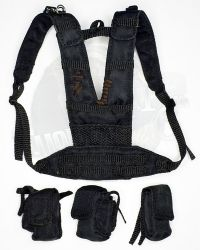 Flagset Toys Masked Mercenaries 2.0: Suspenders With Three M4 Pouches (Black)
