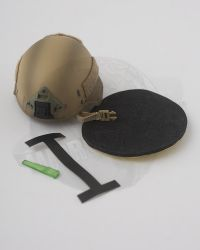 Flagset Toys US 75th Ranger Regiment In Afghanistan Revenge Team Member: Helmet With Padding, Tape Strip & Green Marker