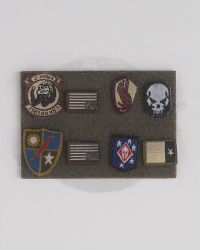 Flagset Toys US 75th Ranger Regiment In Afghanistan Revenge Team Member: Military Patch Set (Includes Subdued Texas Flag Emblem, Moral Badges x 5, Subdued US Flag x 2