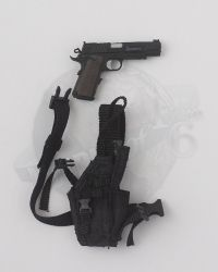 Flagset Toys US 75th Ranger Regiment In Afghanistan Revenge Team Member: M1911 Pistol With Drop Leg Holster (Black)