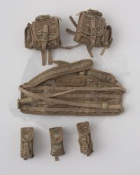 Flagset Toys US 75th Ranger Regiment In Afghanistan Revenge Team Member: Molle Chest Rig With Five Pouches (Tiger Stripe)