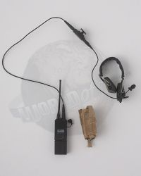 Flagset Toys US 75th Ranger Regiment In Afghanistan Revenge Team Member: Radio Intercom Headset System With Pouch (Tan)