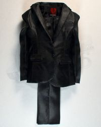 Dam Toys Gangster Kingdom Heart 4 Vincent & Kerr: Suit Jacket & Trousers (Black With Vertical Stripes)