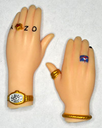 Jakks Pacific The Osbournes Ozzy Hands With Rings