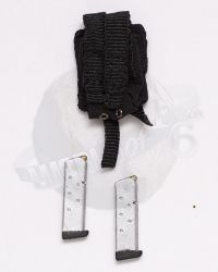 Mini Times CIA Armed Agents: Pistol Magazine Pouch With 2 Clips (Silver)