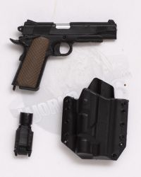 Mini Times CIA Armed Agents: P226 Pistol With Tac Light & Holster