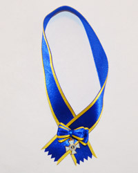 DiD George S. Patton: Body Ribbon with Medal (Blue)