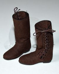 Pop Toys Chivalrous Robin Hood: Lace Up Fabric Boots (Brown)