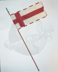 Pop Toys King Henry V of England: English Flag With Pole