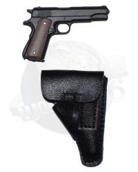 Redman Toys Fury Tank Division: M1911 Pistol With Custom Holster (Black)