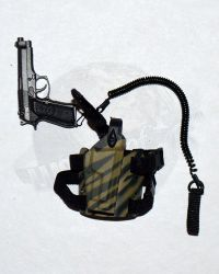 "Soldier Story Iraq Special Operations Forces ""ISOF"": M92F 9mm Pistol With M92F Safety Lanyard & Model 6004 Tactical Holster"