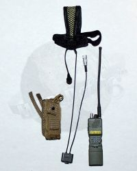 PRC-152 Tactical Radio With Antenna, Tactical Headset With PTT Switch & Blackhawk Molle Radio Pouch