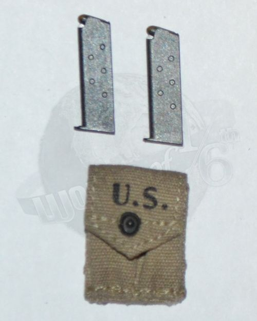 Soldier Story US Army 28th Infantry Division Machine Gunner Arden 1944: M-1923 .45 Magazine x 2 With Pouch