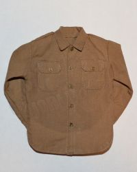 Soldier Story US Army 28th Infantry Division Machine Gunner Arden 1944: Wool Shirt With Functioning Buttons (Khaki)