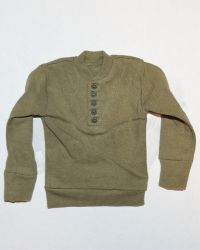 Soldier Story US Army 28th Infantry Division Machine Gunner Arden 1944: M1944 High Neck Wool Sweater (Khaki)