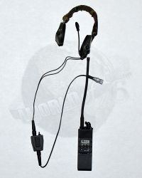 Soldier Story EODMU-11 U.S. Navy EOD Mobile Unit 11: Sordin Headset With Waterproof P.T.T. & Mbitr Radio & Pouch