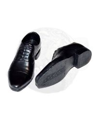 Very Cool Mercenary Adam & James: Dress Shoes (Black With Foot Peg Inserts)