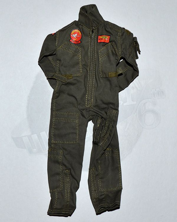 Very Hot Toys US Navy VF-101 Grim Reaper Pilot: Flight Jumpsuit With Patches