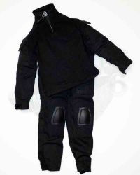 Wolf King Tough Guy: Urban Uniform, Jacket & Trousers With Re-Enforced Knees (Black)