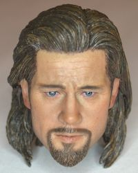 Eleven Toys Brad Pitt Headsculpt With Long Hair (As Seen In World War Z)